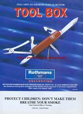 "Rothmans Cigarette ""Tool Box"" 1995 Magazine Advert #2874"