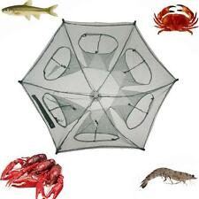 Folding Fishing Net Fish Shrimp Minnow Crab Baits Cast Mesh Trap Snare Pot Cage