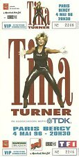 RARE / TICKET CONCERT - TINA TURNER LIVE PARIS BERCY - 4 MAI 1996 / COMME NEUF