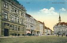 Ansichtskarte Leipa Marktplatz mit Rathaus 1915 Ceska Lipa Böhmen