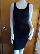M&S 'Heatgen' Thermal Supersoft Built Up Shoulder Slip 12 Black BNWT