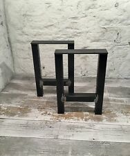 2 Handmade H-Frame Raw Steel Bench Upcycle Table Seat Legs Industrial Style
