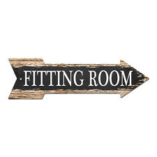 AP-0005 FITTING ROOM Arrow Street Tin Chic Sign Name Sign man cave Decor Gift