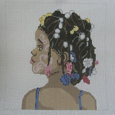 Handpainted Needlepoint Canvas Barbara Russell Festival Child BR481