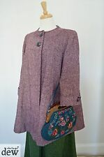 purple SWING JACKET coat 1940's style WARTIME vintage ww2 blitz swagger 10 12