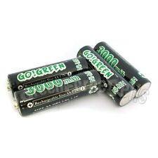4 pcs AA LR6 2A 1.2V 3000mAh Ni-MH Rechargeable Battery Cell RC GO!Green Black