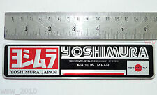 YOSHIMURA silver metal exhaust logo plate plaque 3D decals emblem sticker japan