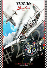 B.R.M BOMBERS WATCH 2012 ADVERT Bernard Richards Manufacture - N.A. P-51 MUSTANG