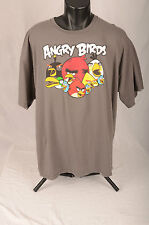 ANGRY BIRDS Licensed Graphic T Shirt Gray w Multicolor Graphic 2XL