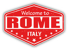 """Rome City Italy Grunge Travel Stamp Car Bumper Sticker Decal 5"""" x 4"""""""