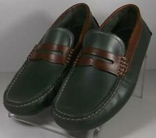 250248 SP38 Men's Shoes Size 9 M Green Leather Driving Moccasins Johnston Murphy