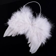 New Kids Girls White Feather Fairy Angel Wings Christmas Halloween Party Costume