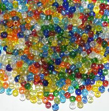 SBL1943h Crystal Rainbow 6/0 4mm Assorted Glass Seed Bead Premium Mix 3.5oz
