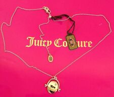 Juicy Couture Yes or No Spinner Necklace Silver YJRU5404 NWT $48.00