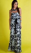 Honey And Beau Black & White Maxi Dress,Womens Long Summer Dress Size 14