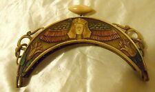 Antique Polychromatic Celluloid Egyptian Purse Frame -  STUNNING !!! - France