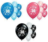"""10 X 30TH BIRTHDAY BALLOONS 11"""" HELIUM QUALITY PARTY DECORATIONS (PA)"""