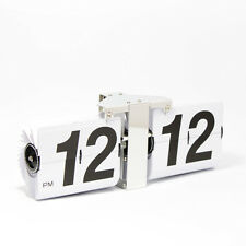 Retro Modern Giant Large Big Number Auto Flip Wall Clock White