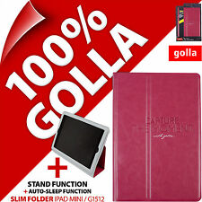 Golla Pink Slim Folder for Apple iPad Mini 1 2 3 with Stand Smart Folio Cover