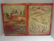 TWO BEAUTIFUL OIL ON CANVAS PAITINGS, SIGNED F. de VILLENEUVE