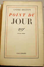 SURREALISME/BRETON/POINT DU JOUR/NRF/1934/EO/HENRI PARISOT