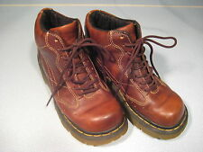 Dr Marten High Lace Boots Natural Brown Leather US Mens 5, Wm 6 AW004 Air Sole