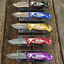 5 PC SET RAZOR TACTICAL Assorted Spring Assisted Opening Rescue Pocket Knife -t