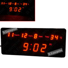 DIGITAL LCD ALARM Light Wall Calendar Date Time CLOCK TIMER Temperature Gift -55