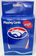 121947 WESTERN BULLDOGS AFL TEAM LOGO FULL DECK OF PLAYING CARDS SET POKER