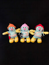 "3 Jim Henson Fraggle Rock 8"" DOOZERS Plush Stuffed Muppet Doll Collection"