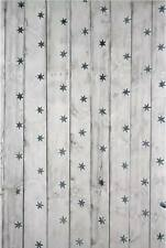 GREY WOOD STARS BACKDROP WALLPAPER BACKGROUND VINYL PHOTO PROP 5X7FT 150x220CM