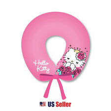 Sanrio Hello Kitty Neck Cushion Travel Pillow with Strap : Pink Royal Princess