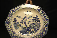 """MEAKIN ROYAL STAFFORDSHIRE WILLOW Salad Plate Blue Octagon Ironstone England 7"""""""