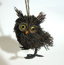 Charming Owl Naural Twigs Straw Spring Halloween Decoration Ornament Figure 4""