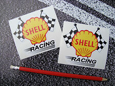 SHELL OIL Racing Stickers Classic Style 9cm Fuel Ferrari F1 Lemans Targa Florio