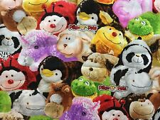 CLEARANCE FQ PILLOW PETS BEANIES CUDDLY TOYS ANIMALS FABRIC CHILDREN