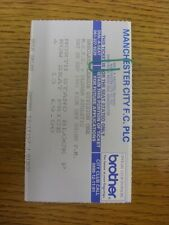 28/09/1991 Ticket: Manchester City v Oldham Athletic. Item appears to be in good