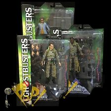 GHOSTBUSTERS Select SET Ray STANTZ Winston ZEDDEMORE Louis TULLY Action Figures!