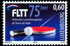 Luxembourg Table Tennis Federation 75 years mnh stamp 2012