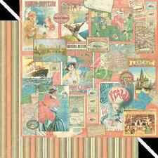 Graphic45 PLEASURE TRIP 12x12 Dbl-Sided Scrapbooking (2) Papers *RETIRED*