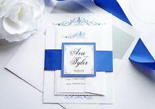 Royal Blue Wedding Invitation- Sample Set