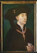 Ancienne carte postale d'art-rogier van der weyden-portret van FILIPS de Goede