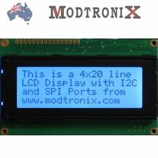 2004 Quality LCD Character Display Module, 20x4, Black on Blue, Arduino/AVR/PIC