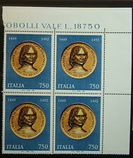 1992 Italia quartina  Lorenzo Il  Magnifico  750 lire MNh**