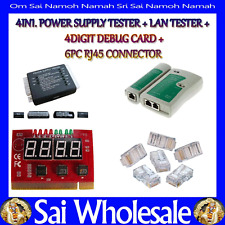 PC Network Kit Motherboard Post Analyzer Cable Computer Power Supply Tester