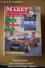 Oldtimer Markt 3/90 VW K 70 Peugeot 504 Kapitän 2,6
