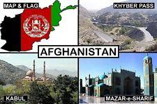 SOUVENIR FRIDGE MAGNET of AFGHANISTAN KABUL KHYBER PASS