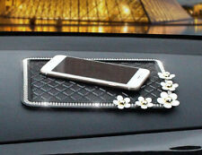 1pcs Fashion Diamond Daisy Mats Car Skid Storage Box Car Accessories Phone Mat