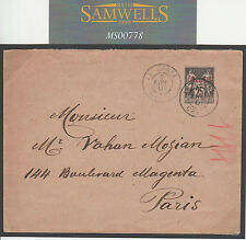 MS778 1901 France POs Abroad LEVANT Stationery *LA CANEA* cds *CRETE* Env Paris