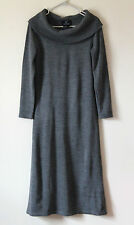 Lennie For Nina Leonard Grey Soft Polo Neck Long Jumper Dress BNWOT SZ S 10/12